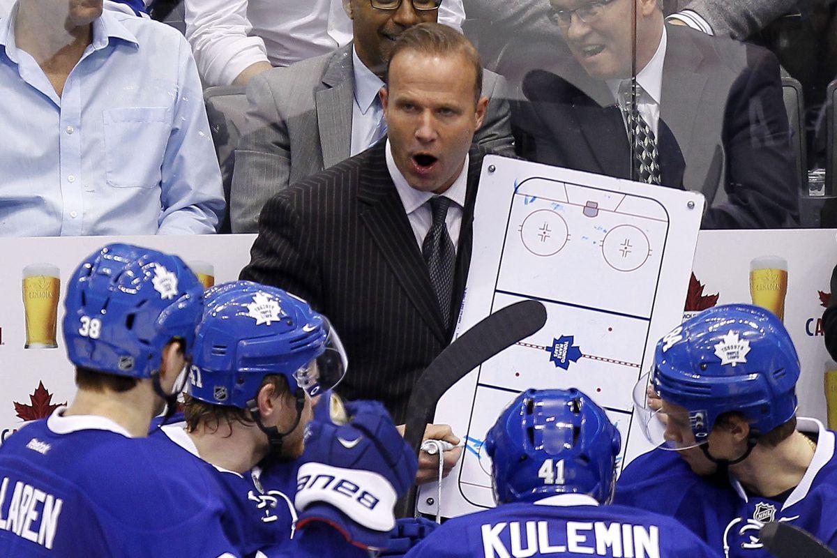 Former Maine interim head coach Greg Cronin, now with the Toronto Maple Leafs