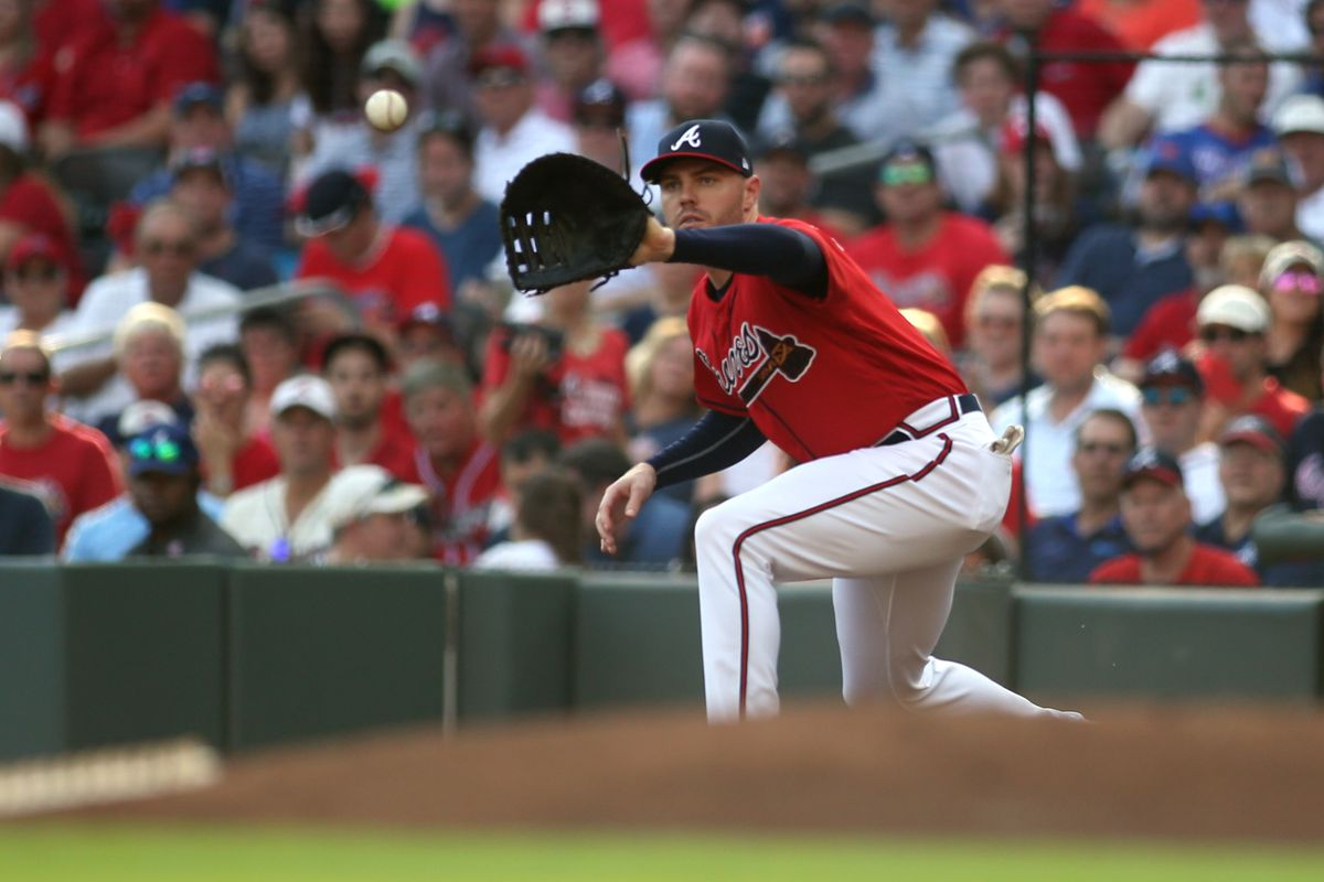 Atlanta Braves first baseman Freddie Freeman in 2019.