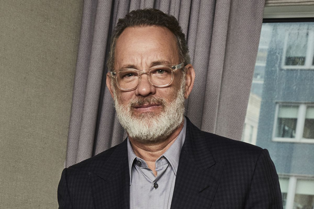 This Nov. 17, 2019 photo shows Tom Hanks posing for a portrait in New York.