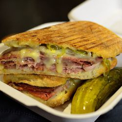 """Spicy Italian Sandwich at Dickson's Farmstand Meats by <a href=""""https://www.flickr.com/photos/savoreverything/14614498003/in/pool-eater/"""">savoreverything"""
