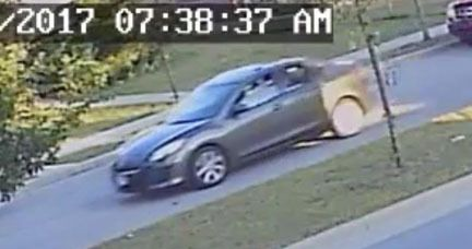 Surveillance video shows the car used in a series of armed robberies Friday morning in Hammond and East Chicago. | Hammond Police