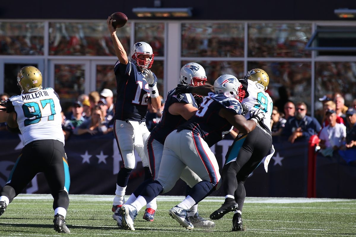 The Jacksonville Jaguars led by quarterback Blake Bortles and running back Leonard Fournette meet the New England Patriots led by quarterback Tom Brady