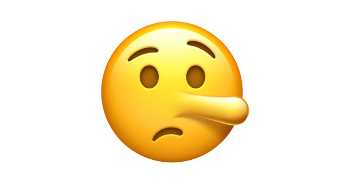 An emoji with a nose is a horror to behold the verge the lying face emoji is clearly meant to evoke the nightmare tale of pinocchio a fibbing puppet boy whose nose grows every time he tells a tall tale buycottarizona Choice Image