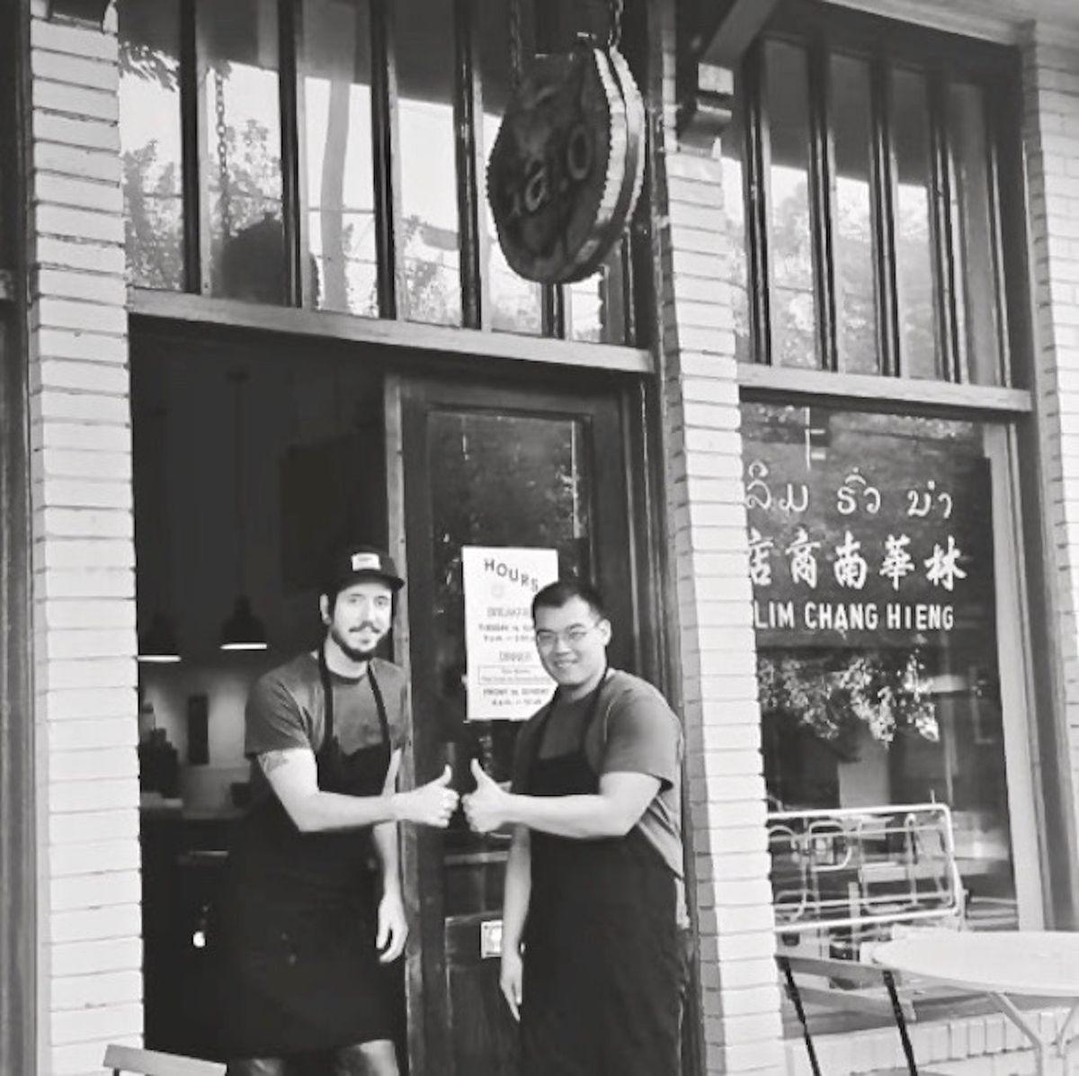 Chefs Rod Lassiter and Parnass Lim Savang