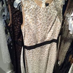 White lace dress, $250 (was $1,295)