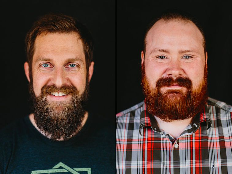 Headshots of Andreas Müller [left] and Kevin Gillespie.