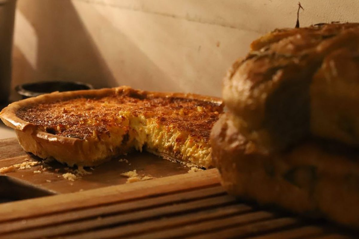 Crab tart at Quality Wines, one of the best dishes in London this week