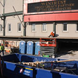 Another view under the marquee at Clark & Addison -