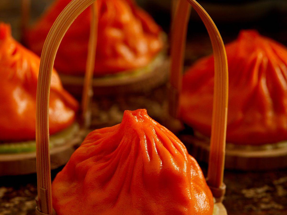 Dumplings in baskets