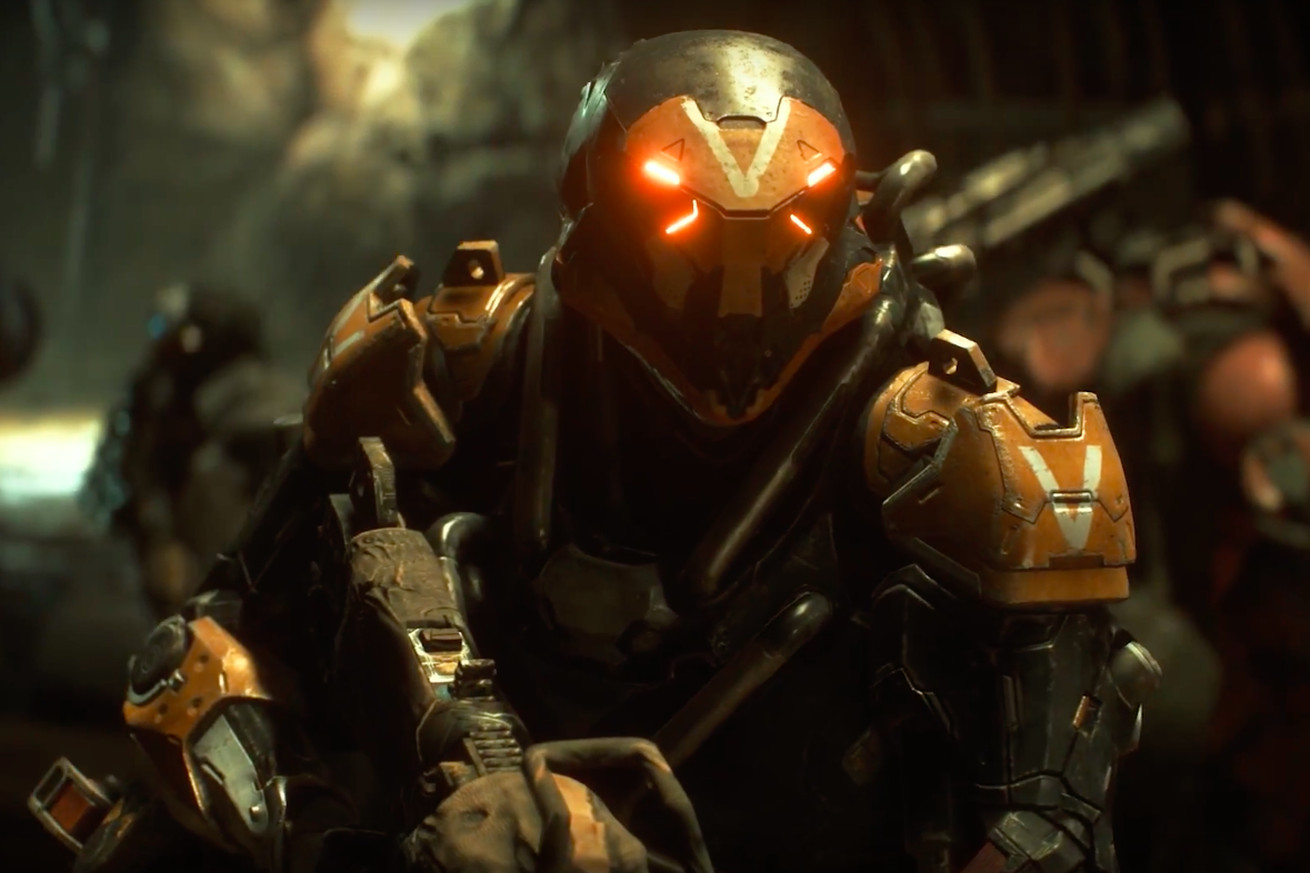 watch four minutes of new anthem gameplay