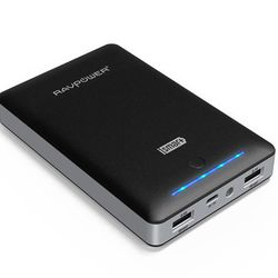 <b>RAVPower Mobile Charger</b><br> Let's be honest and say that cell phone batteries are terrible and mobile chargers are the best way to deal with them. You can charge your phone and tablet over and over with this <b>RAVPower</b> Portable Battery for <b
