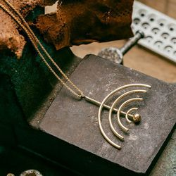 """<b>The Pick:</b> 'Within Vision' necklace, <a href=""""http://www.psyche-jewelry.com/product/within-vision-necklace/"""">$195</a>"""