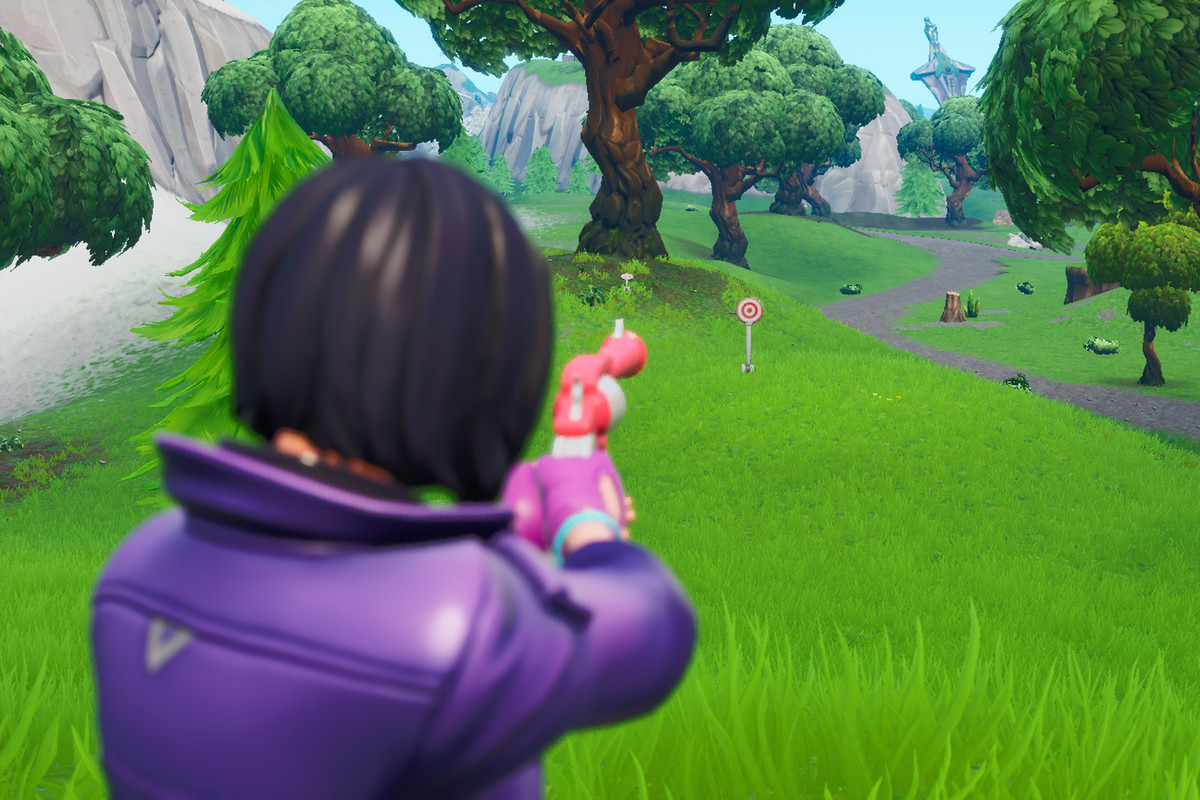 Fortnite Hit Easy And Hard Firing Range Targets Bullseye