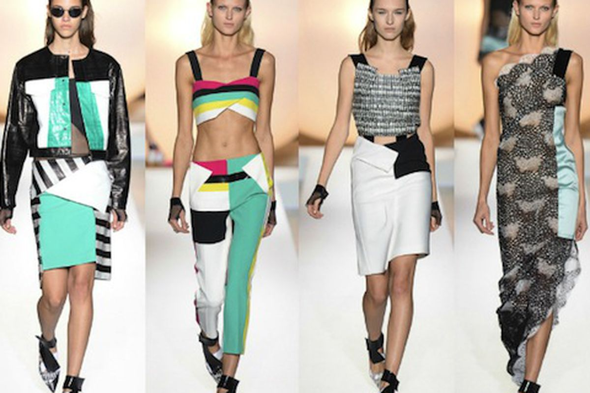 """Roland Mouret Spring 2014; Image via <a href=""""http://www.thefashionsection.com/roland-mouret-spring-2014/"""">The Fashion Section</a>"""