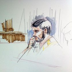 Fazliddin Kurbanov, 30, makes his initial appearance in Federal Court on Friday, May 17, 2013.