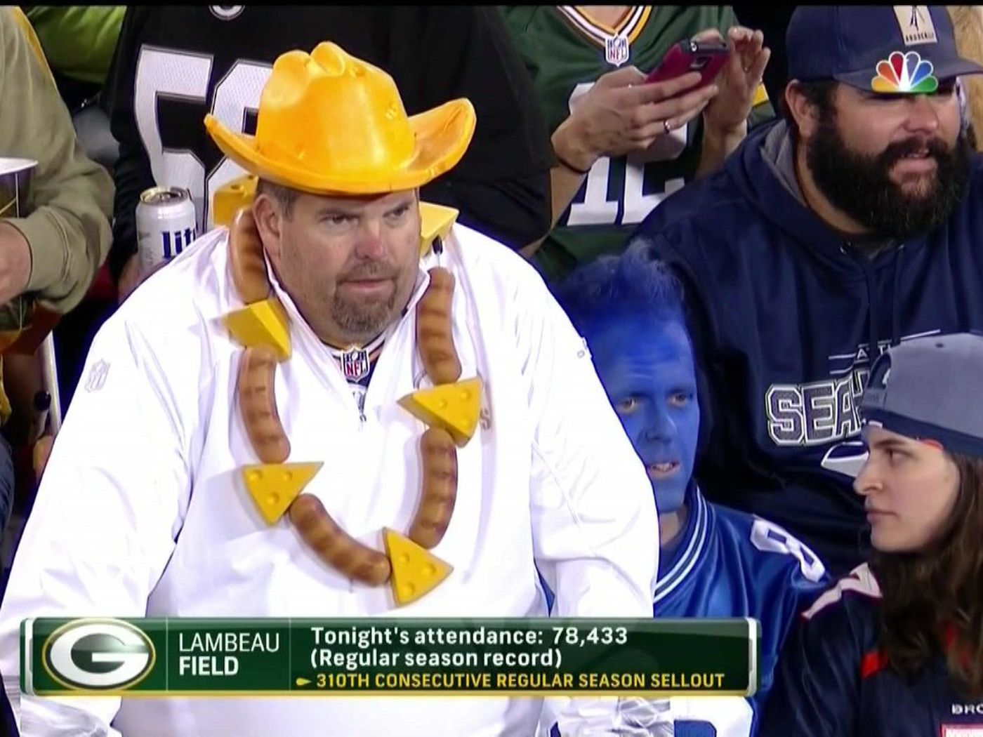 468cabcd09b Hero Packers fan wore necklace made out of bratwurst and cheese -  SBNation.com