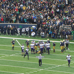 My camera is zoomed all way possible to the other end zone.