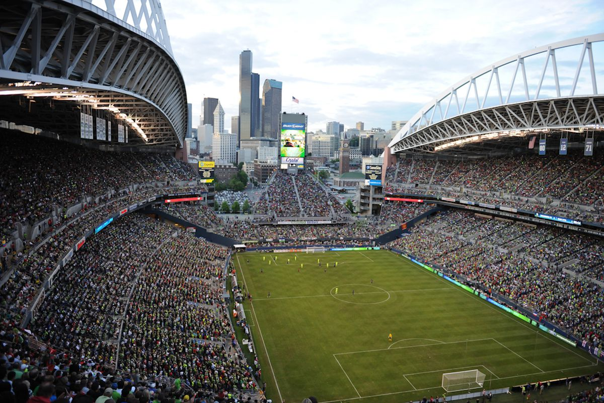 CenturyLink Field Courtesy of Chris Coulter - Sounders Photos