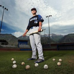 Payton Henry, Deseret News Mr. Baseball 2016, poses for a portrait in Pleasant Grove, Tuesday, June 7, 2016.
