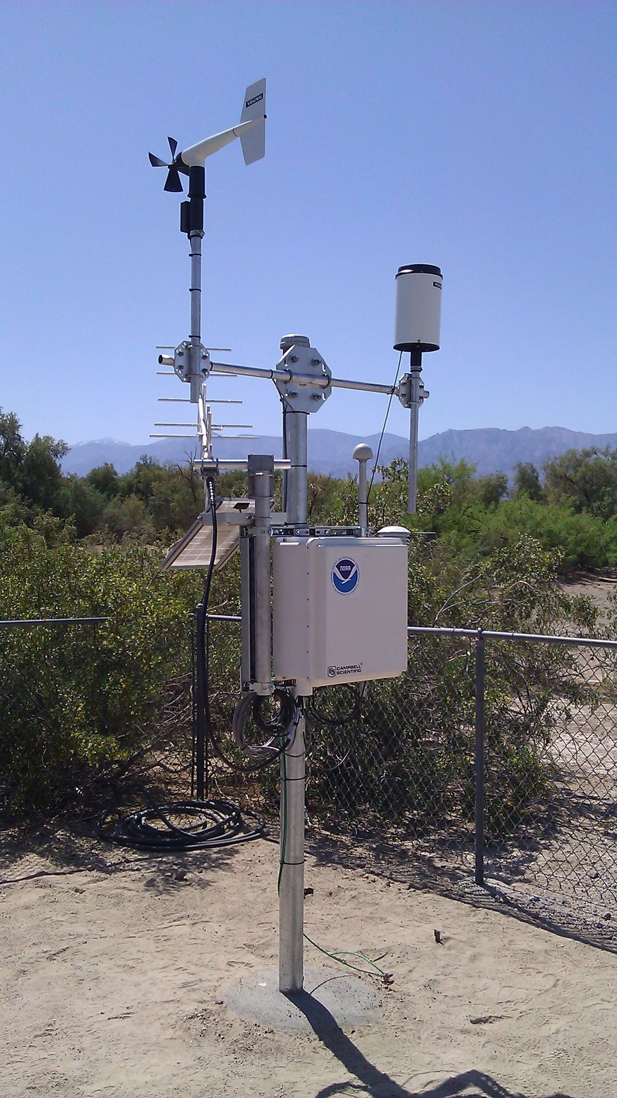 The instrument that took the reading of 130 degrees F at Furnace Creek, Death Valley on August 16th.