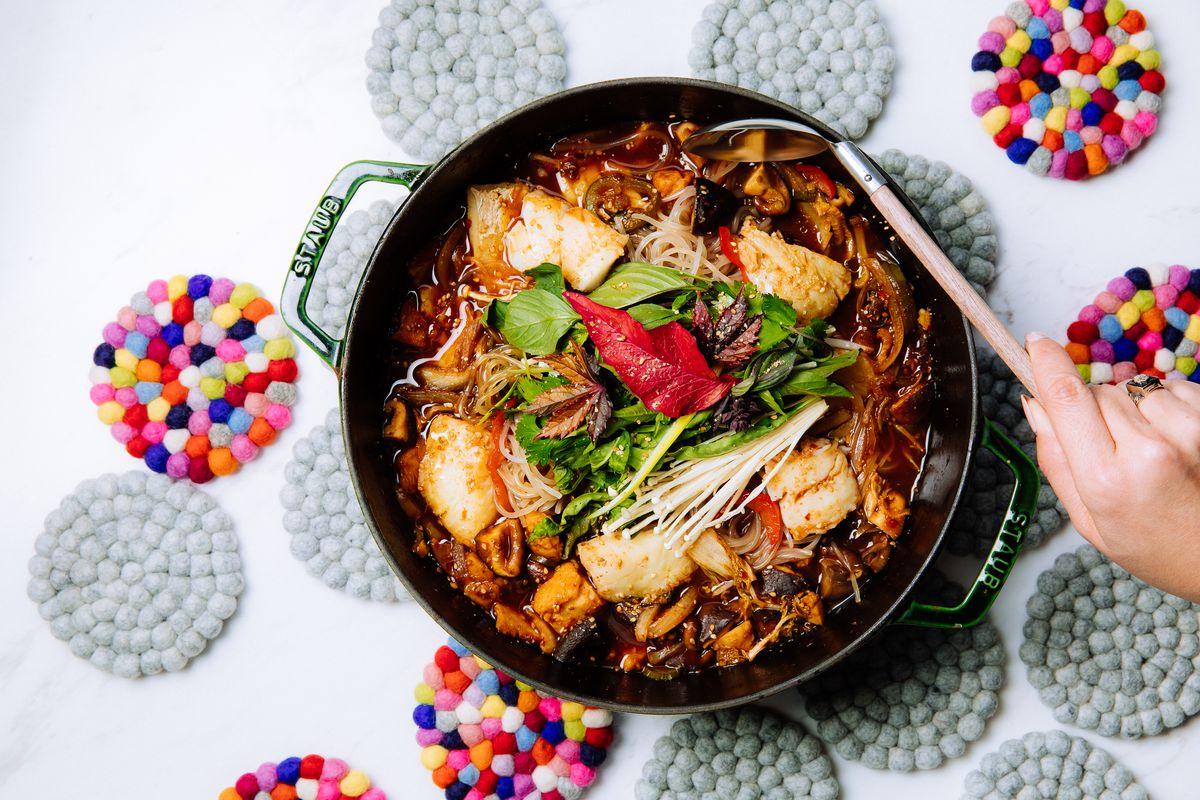 Tamarind black cod stew at Best Friend