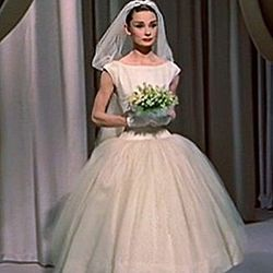 Funny Face (1957): Fashion, photography, Paris, and this sartorially perfect bridal moment—of course Audrey Hepburn is behind this one.