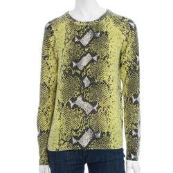 "<b>Equipment</b> Python Print Cashmere Sweater, <a href=""http://www.scoopnyc.com/women/new-arrivals-1/python-print-cashmere-sweater#"">$298</a> at Scoop NYC"