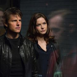 """Tom Cruise, left, plays Ethan Hunt and Rebecca Ferguson plays Ilsa in """"Mission: Impossible – Rogue Nation."""""""