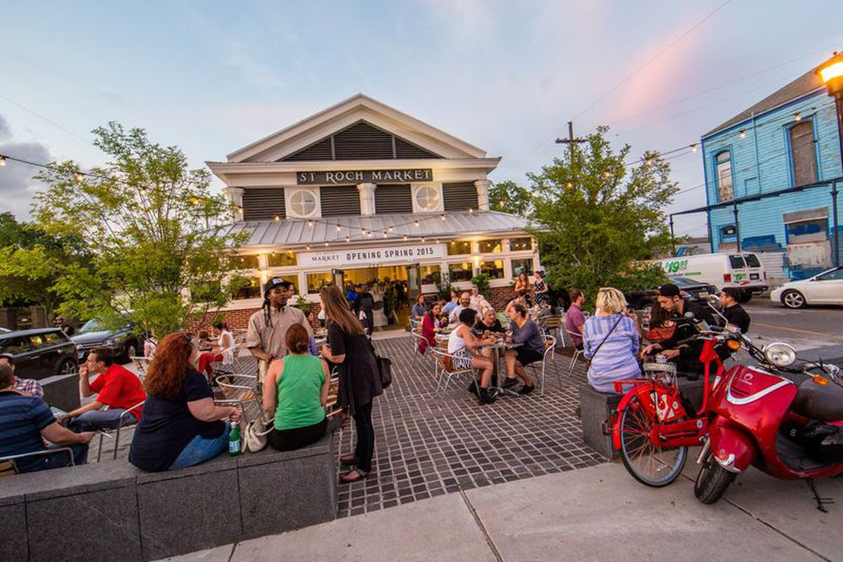 New Orleans' St. Roch Market on opening day.