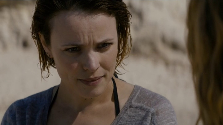 Ani goes to the beach on True Detective.