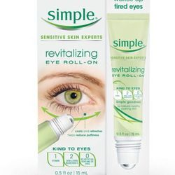 """Simple Revitalizing Eye Roll On, <a href=""""http://www.walgreens.com/store/c/simple-revitalizing-eye-roll-on/ID=prod6102815-product?AID=10652189&PID=5988910&CID=3056517&ext=5988910l"""">$12.99</a>. """"Dry plane cabins and hotel air means a touch of extra under e"""