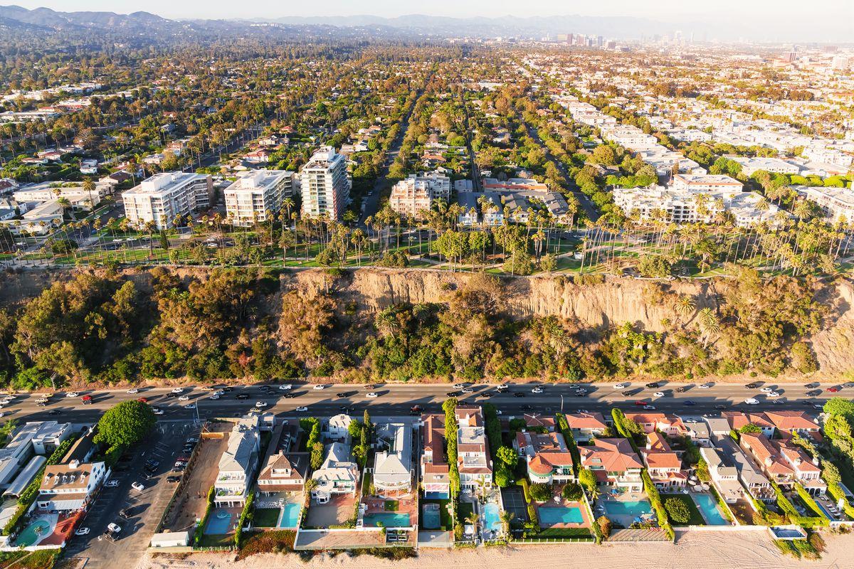 Aerial view of Santa Monica