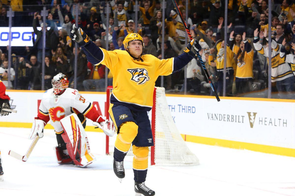 NHL: FEB 27 Flames at Predators
