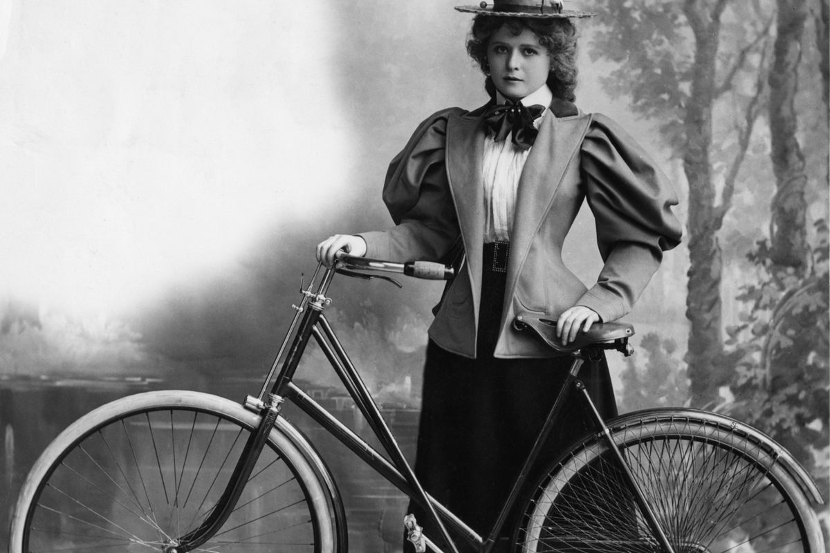 Bicycle Face A 19th Century Health Problem Made Up To Scare Women Anatomy Diagram This 1895 Cyclist Managed Avoid Hulton Archive Getty Images