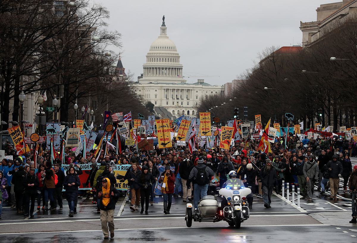 Standing Rock Sioux Tribe Rallies In Washington DC For Tribal Rights