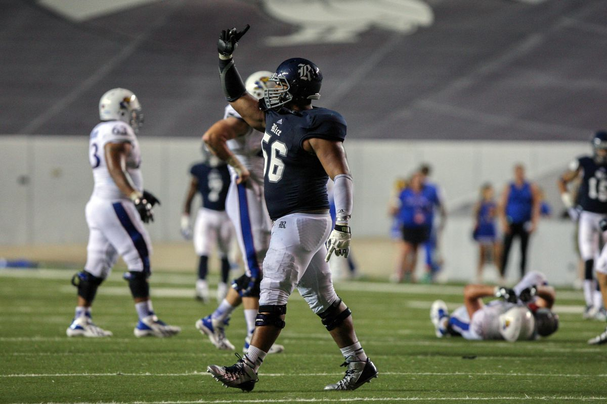 Christian Covington from Rice is a hot draft prospect and one of the most outstanding defenders in C-USA
