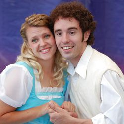 """Lindsay Hickman and William Richardson star in """"The  Fantasticks"""" at the Ed Kenley Amphitheater in Layton."""