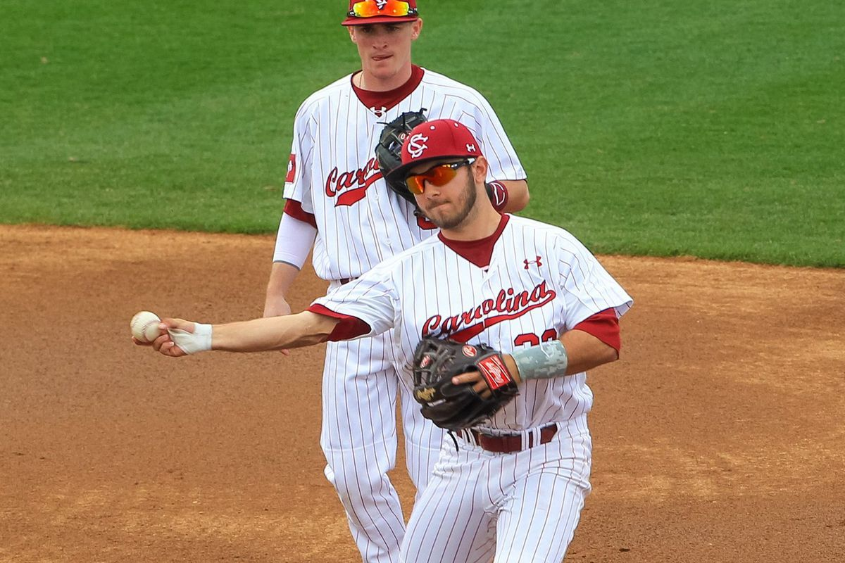 South Carolina second baseman Max Schrock
