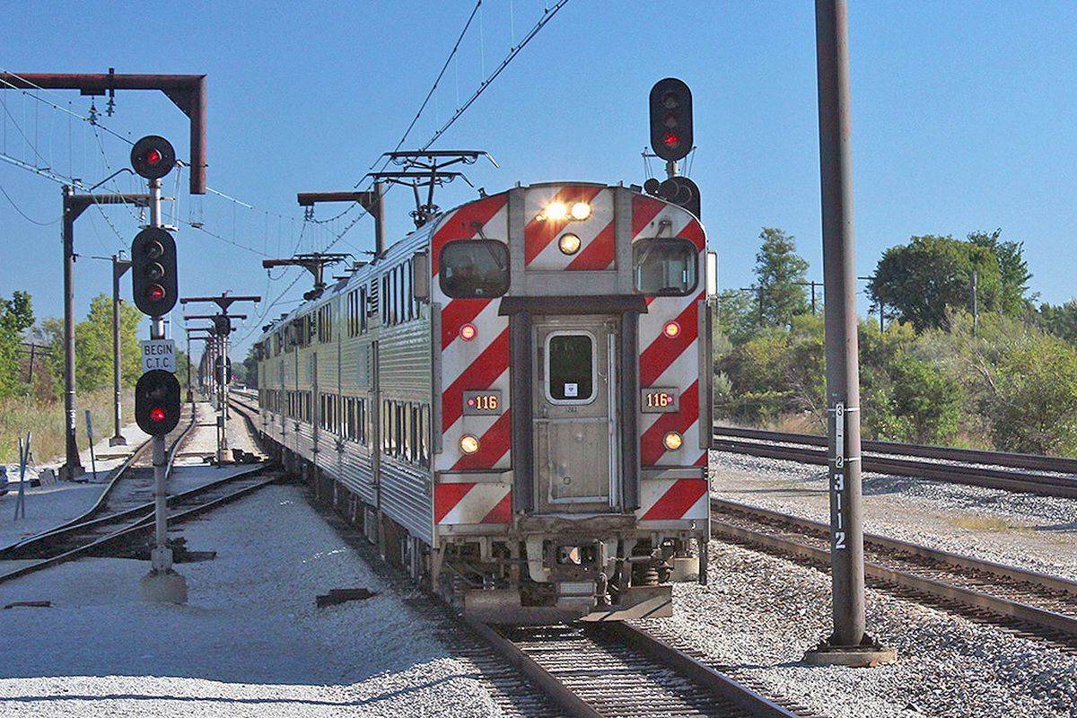 A woman died after being struck by a Metra train Aug. 27, 2020, on the Northwest Side.