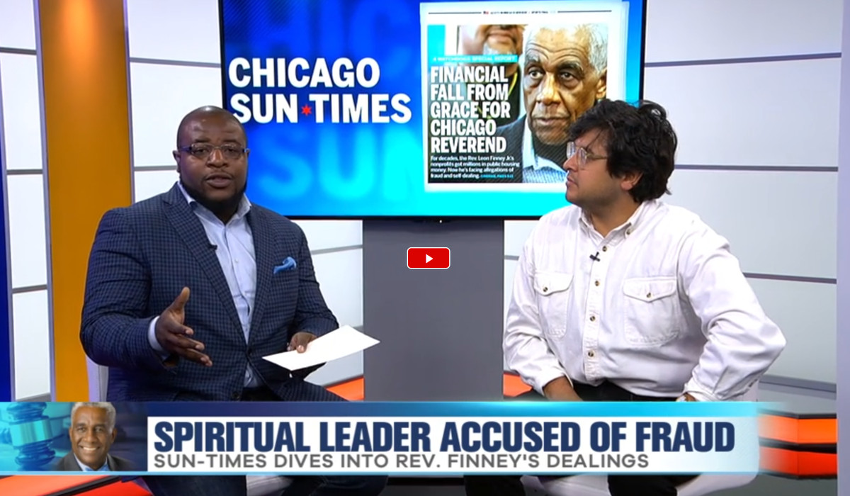 The Sun-Times' Carlos Ballesteros speaks with WCIU's Brandon Pope about the Rev. Leon Finney Jr.