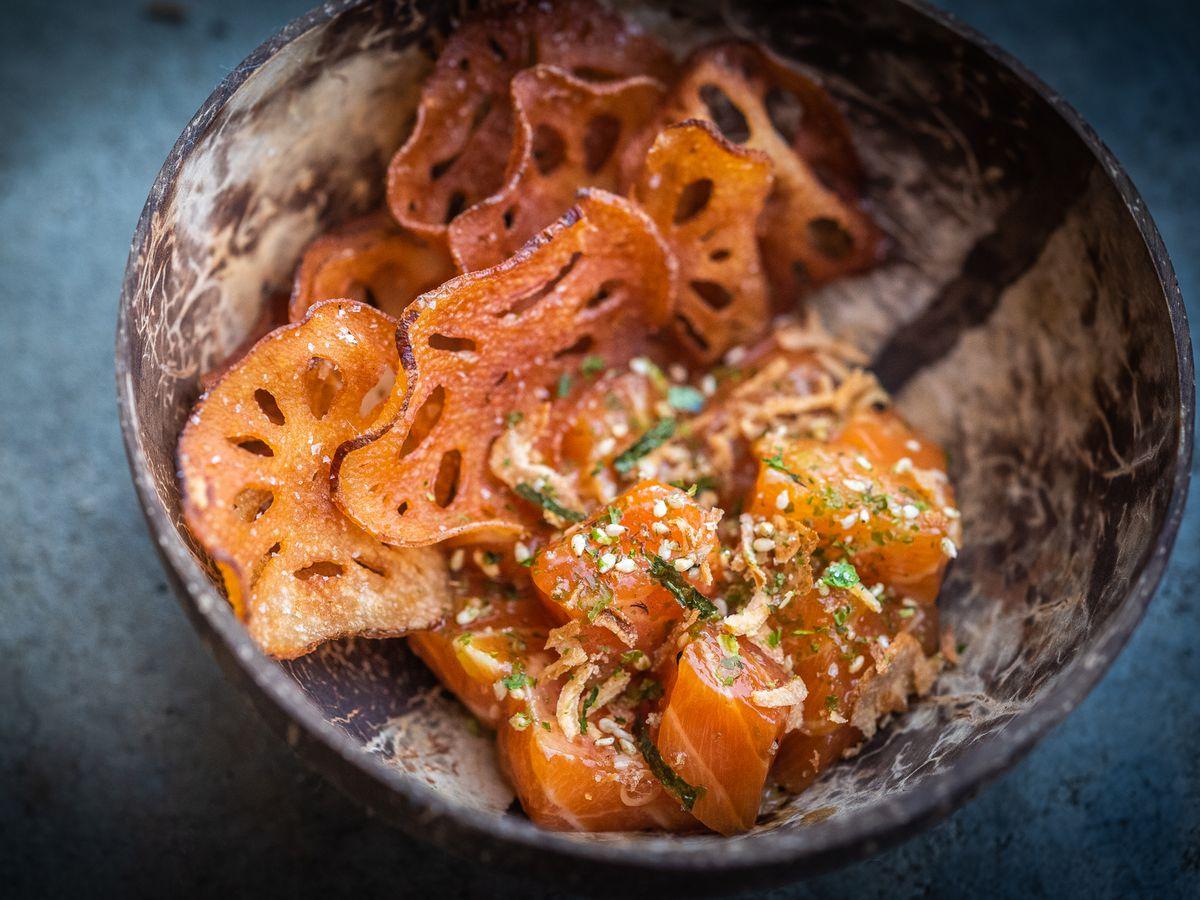 Salmon poke from Coconut Club
