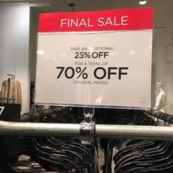 More final sale signs...