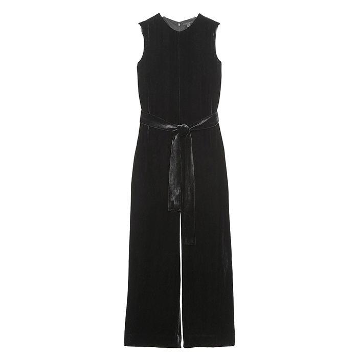 COS Belted Velvet Jumpsuit