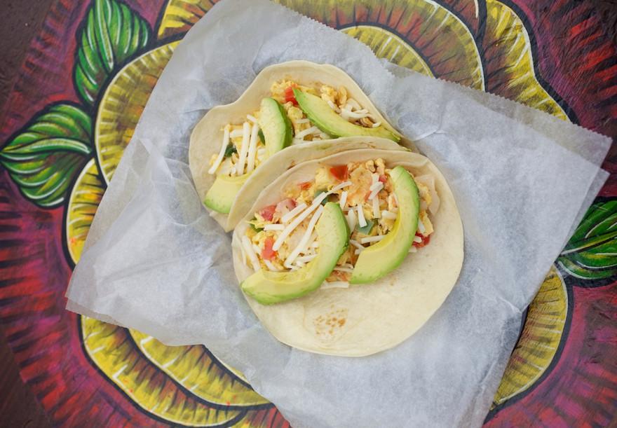 Tacodeli's breakfast tacos