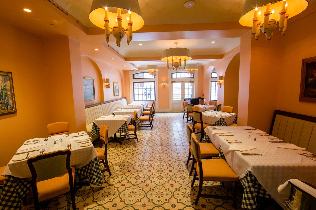 Inside Brennan's, as close to a 'penthouse' restaurant as Nola gets.