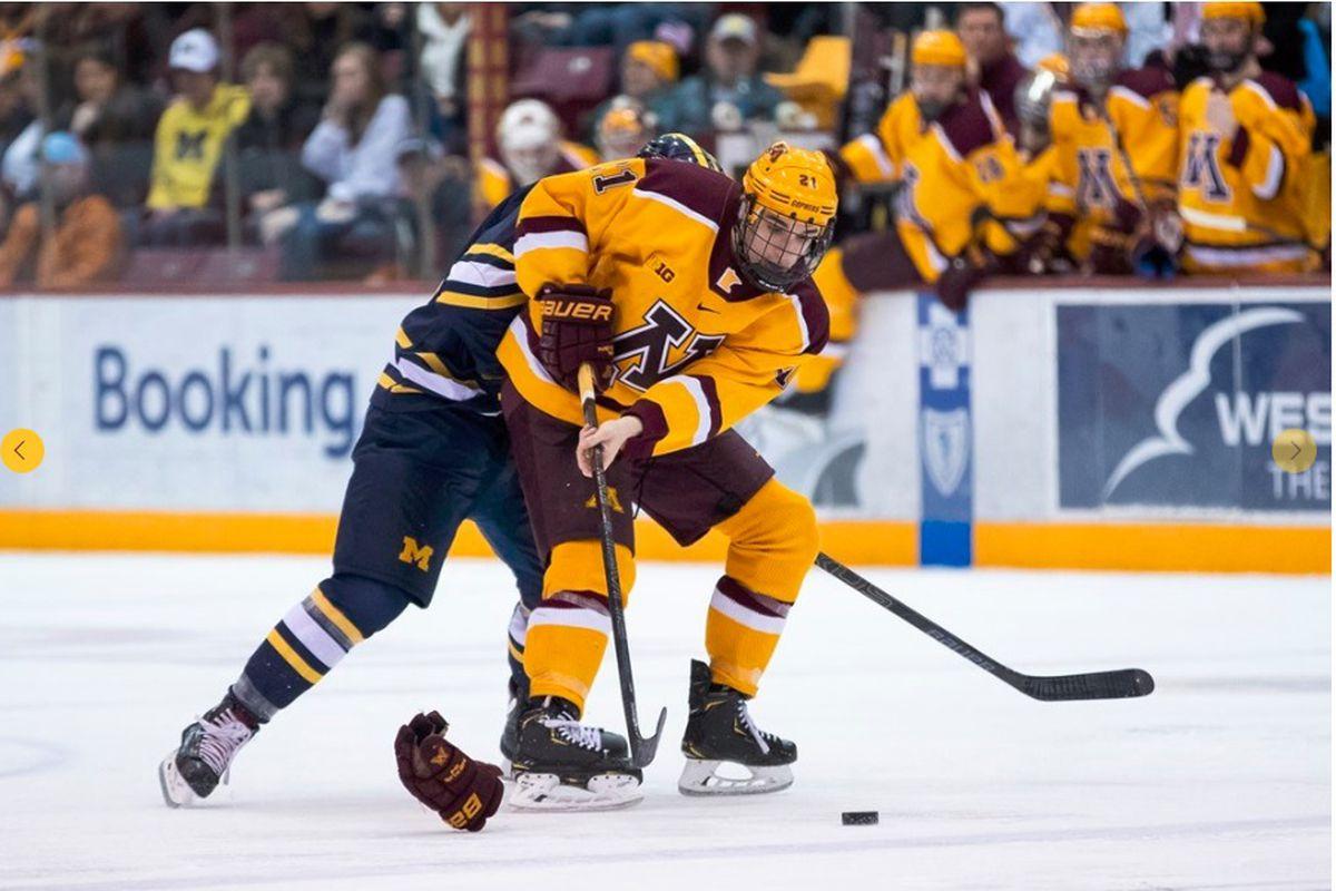 big sale c13cb cc93c Gopher Hockey Hosts Notre Dame in Big Ten Regular Season ...
