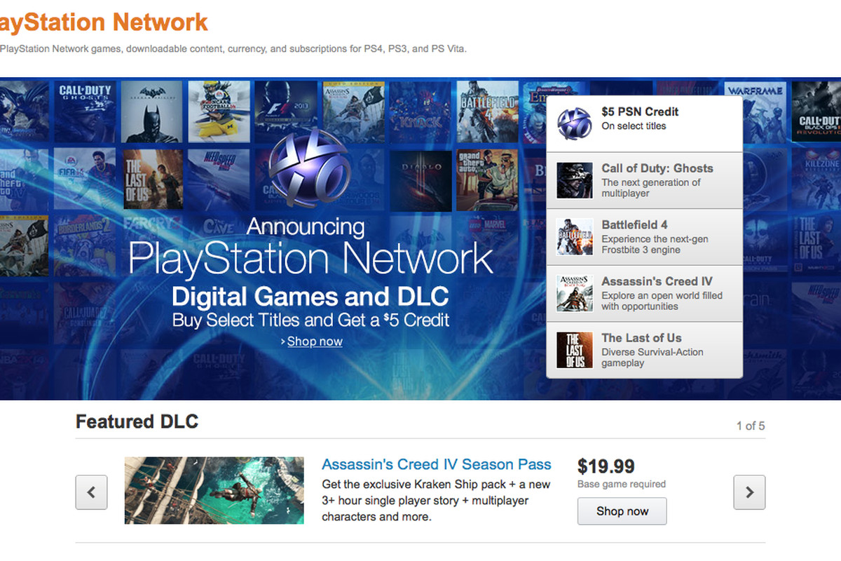Amazon launches a PSN storefront with digital codes - Polygon