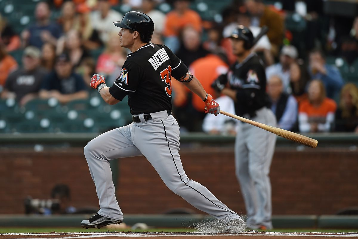 Are the Marlins forgetting how many runs Derek Dietrich can produce with his bat?
