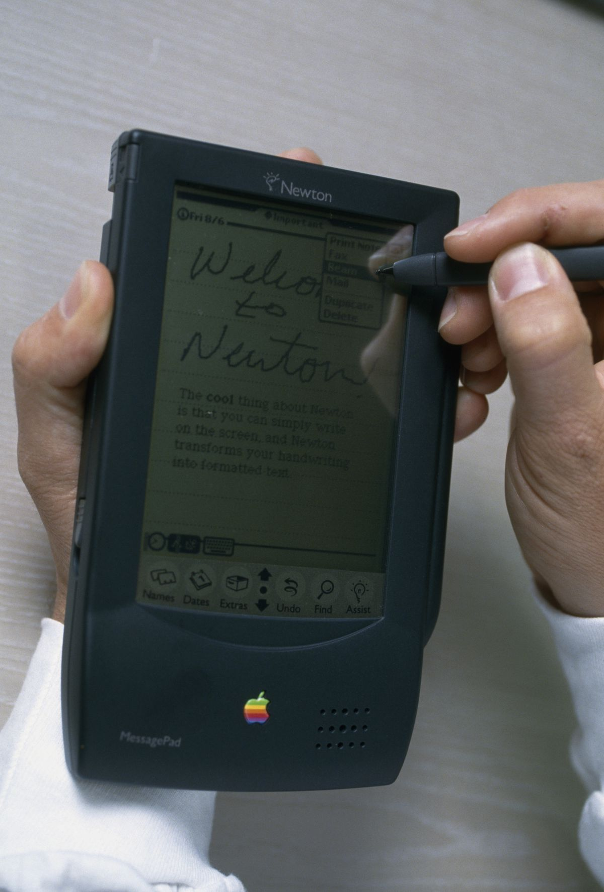 THE NEW PORTABLE COMPUTER FROM APPLE, THE 'NEWTON'
