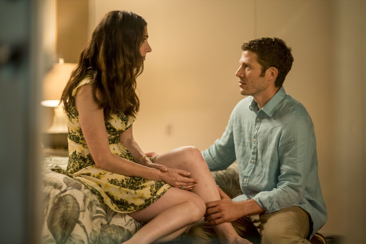 """Kate (Shoshannah Stern), who is deaf, and Danny (Zach Gilford), who isn't, are engaged to marry on the streaming series """"This Close.""""   SUNDANCE NOW"""